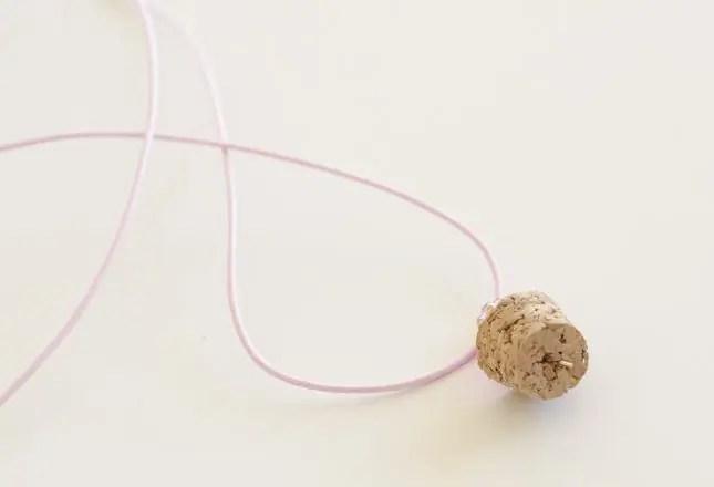 DIY bottle necklaces cork eye pin