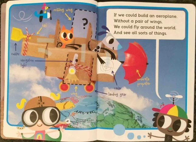 How do you build an aeroplane when you've only got one wing inside page