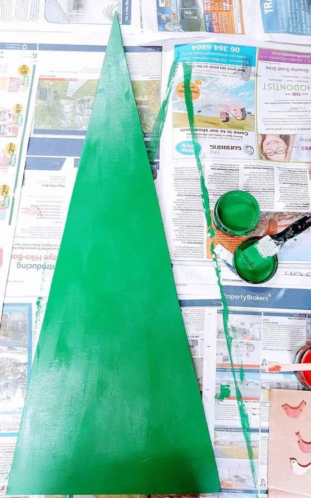 DIY christmas tree green