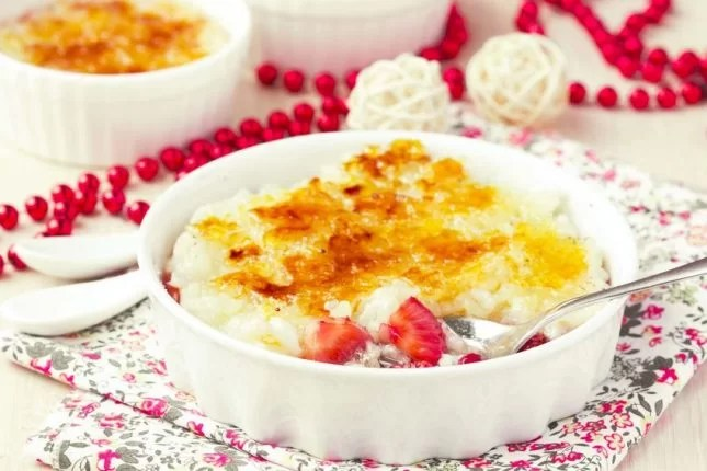 Rice pudding brulee recipe