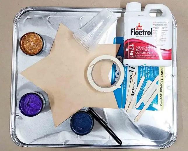 Matariki star acrylic pours materials