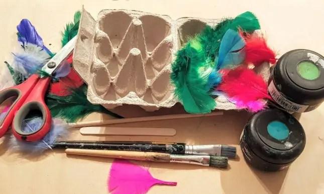 Kakariki mask materials