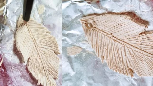 Air Dry Clay Feather Decorations 8