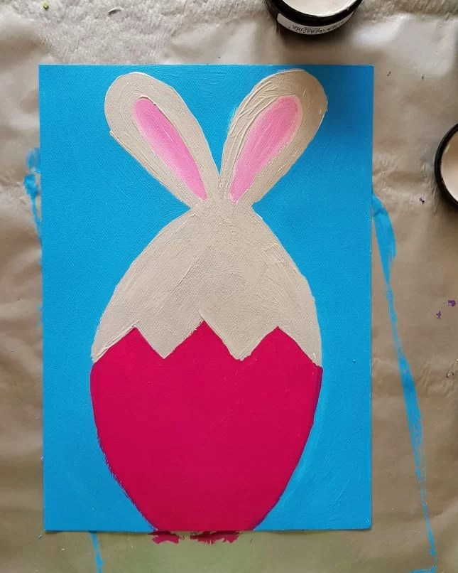 How to Draw an Easter Bunny in an Egg 12