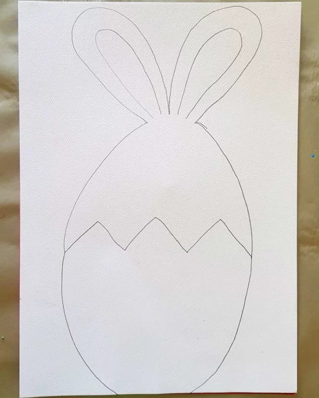 How to Draw an Easter Bunny in an Egg 8