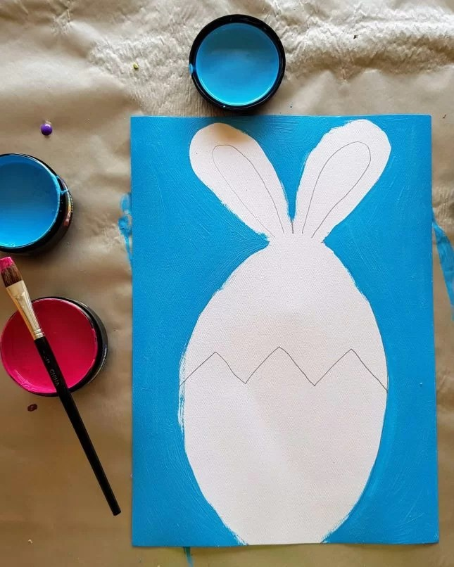 How to Draw an Easter Bunny in an Egg 9