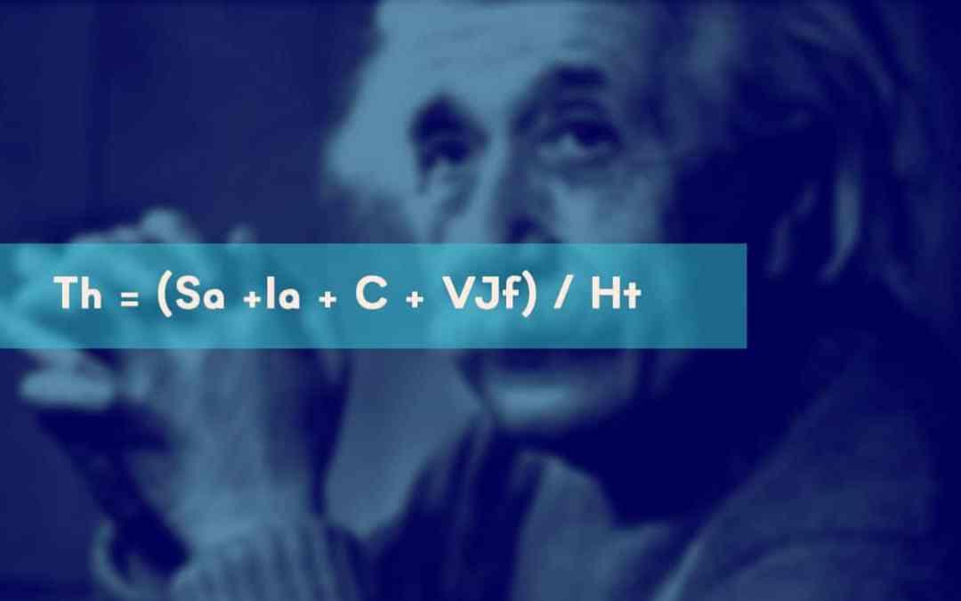 Th = (Sa +Ia + C + VJf) / Ht  : La formule magique du calcul de votre taux horaire !