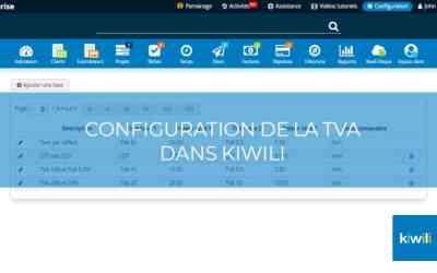 Configuration de la TVA dans les factures Kiwili