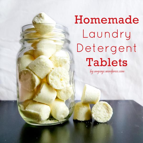 Homemade Laundry Soap {DIY Tablets}
