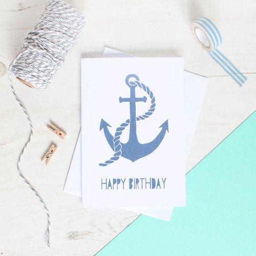 Anchor Birthday Card