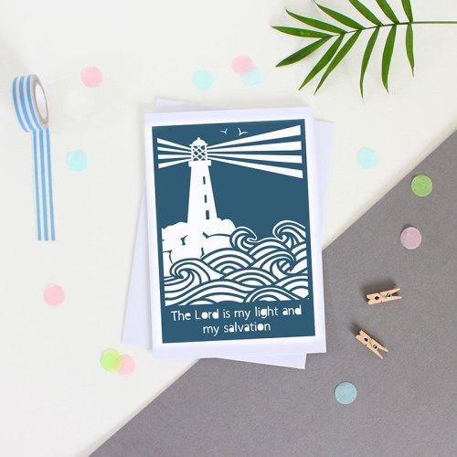 Lighthouse Bible Verse Card