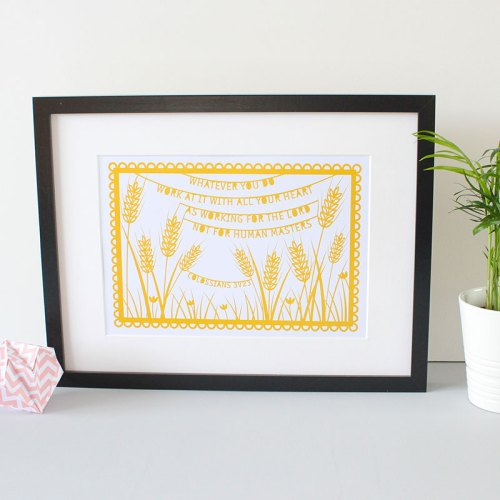 Wheat working for the Lord print