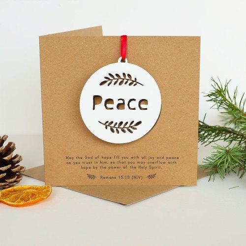 PEACE hanging papercut decoration card