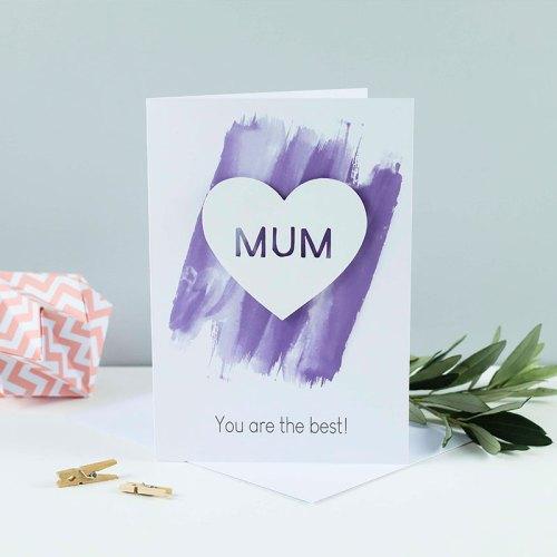 Mum Heart 3D Paper Cut Card