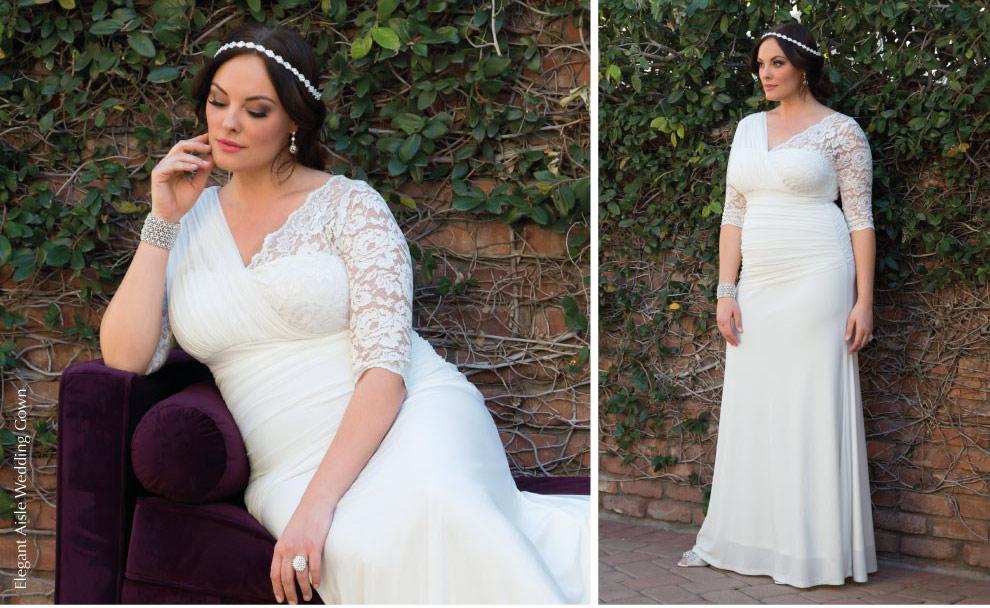 Unique Plus Size wedding gown | Elegant Aisle Wedding Gown
