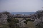 水月公園臨時駐車場から諏訪湖