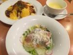 生ハムサラダ&とろ~り卵とチーズのオムライス