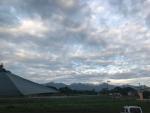 八ヶ岳に夕日があたる
