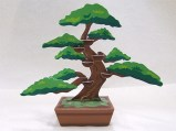 Papercraft imprimible y armable de un bonsai. Manualidades a Raudales.