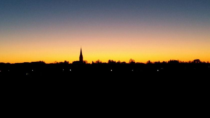 SonnenuntergangKirche