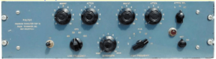 Front face of legendary Pultec EQ. Another of the many classic high-end emulations available and used regularly by KJAMM