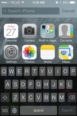 iOS 7 - Spotlight Search