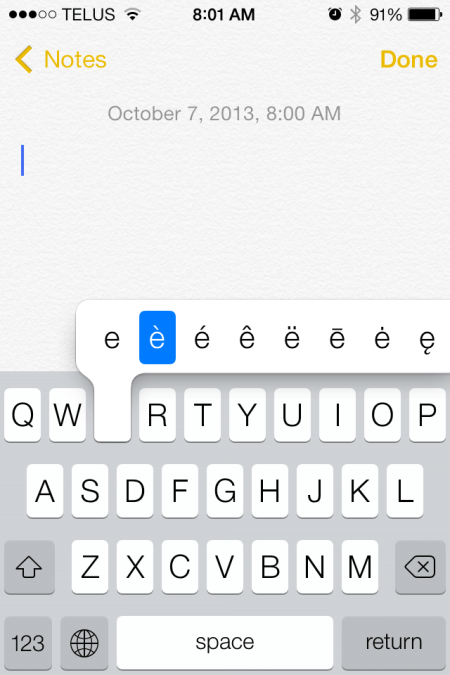 2013 10 07 08.01.44 - iOS 7 Tip - type special characters