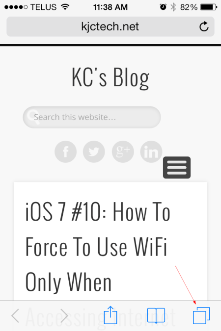 iOS 7 Safari access the tab view - iOS 7 - Safari access the tab view
