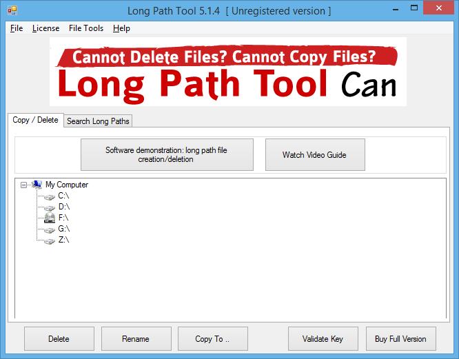 Long Path Tool to Delete Copy or Rename Tough Files or Folders