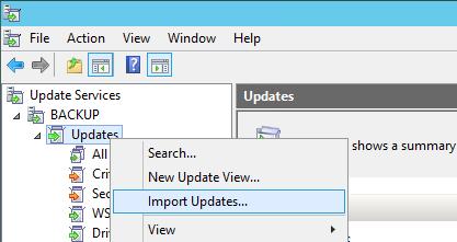 WSUS Import Updates - WSUS - Import Updates