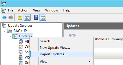 WSUS Import Updates - How To Import Hotfixes, Optional Updates Manually into WSUS