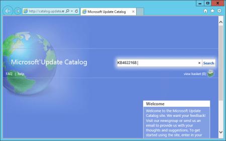 WSUS Microsoft Update Catalog home page - WSUS - Microsoft Update Catalog home page