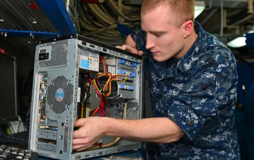 navy computer technician IT military - Extreme IT: What if Your IT Office was in A War Zone?