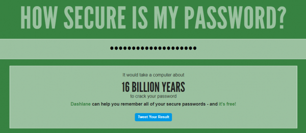 How Secure Is My Password  600x262 - Rules to Choose a Secure Strong Password