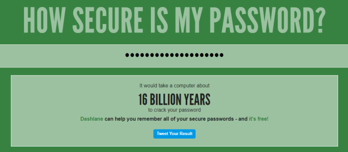 How Secure Is My Password  - Rules to Choose a Secure Strong Password