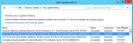 KB 4025336 installed - KB 4025336 installed
