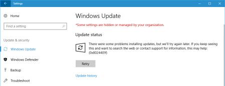 Windows update 8024401f Windows 10 1 - Windows update 8024401f - Windows 10