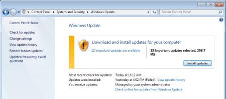 Windows update back to work again. - Windows update - back to work again.