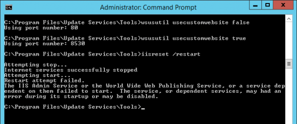 reset Wsus port 600x250 - Fix Windows Update Cannot Search for New Updates Error 80244008
