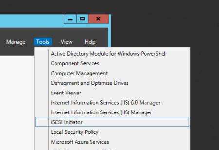 Windows Server launch iSCSI initiator - Windows Server - launch iSCSI initiator