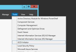 Windows Server - launch iSCSI initiator
