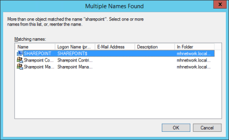 Permission window select computer - Permission window - select computer