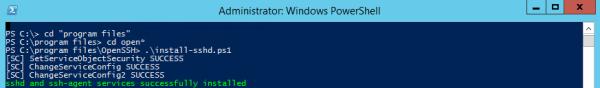 Server 2012 - Install OpenSSH