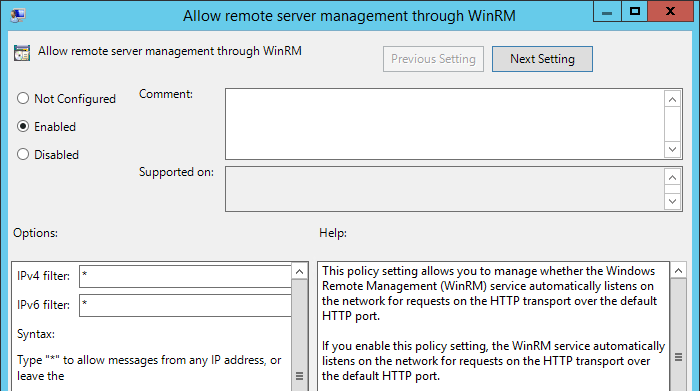 How To Enable WinRM with Domain Group Policy for PowerShell