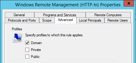 Group Policy - Rule to remove Private