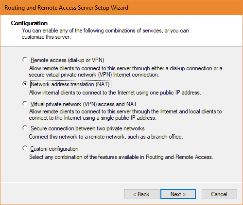 Routing and Remote Access Server Setup Wizard 2018 01 20 22 03 31 - Install and Configure Route and Remote Access Service on Server Core