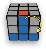 Rubiks Cube Step 3 tip 1 - 5-Step to Solve A 3x3 Rubik's Cube