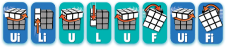 Rubiks Cube Step 3 tip 2 Sequence - Rubiks Cube - Step 3 - tip 2 Sequence