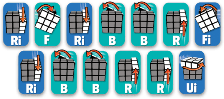 Rubiks Cube Step 5 1 sequence - Rubiks Cube - Step 5 - 1 sequence