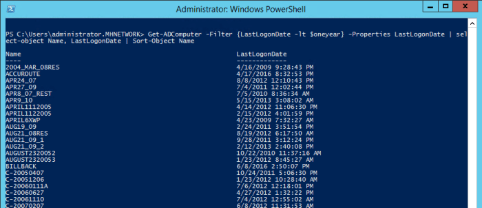 Get ADComputer - Find and Remove Inactive Active Directory Computer Accounts Using PowerShell